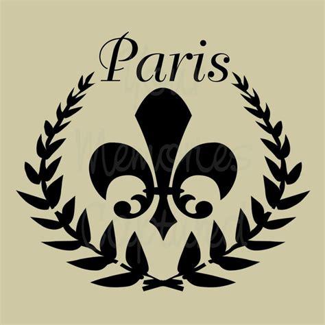 Paris Stencils Paris Shabby Chic Fleur De Lis Wreath Shabby Chic Stencils