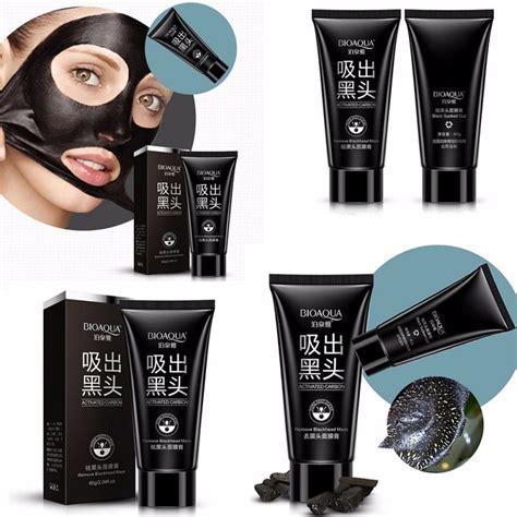 Bioaqua Black Carbon tripleclicks free shipping bioaqua blackhead remover mask peel mud black masks
