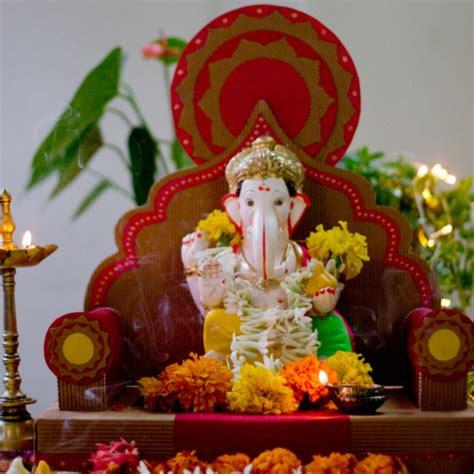 home temple decoration ideas karwak eco friendly ganpati makhar ganpati gift items