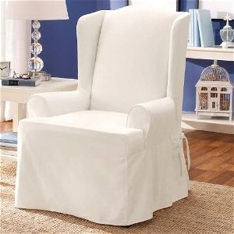white slipcovers for wingback chairs white wing chair slipcover for the home pinterest