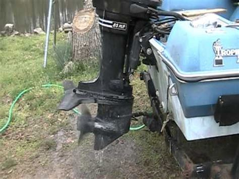 mercury outboard motor won t stay running 85 hp mercury outboard video youtube