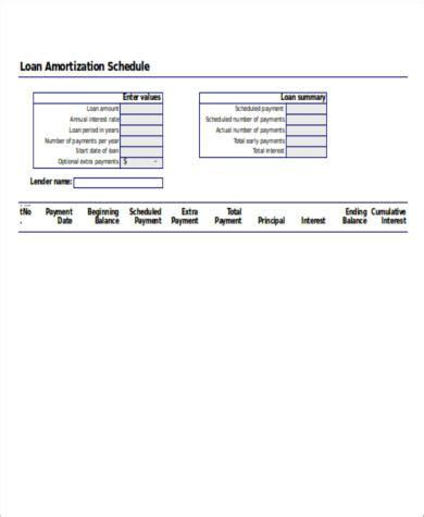 amortization calculator excel sle loan amortization spreadsheet 6 exles in word