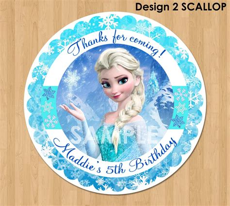 printable stickers frozen frozen favor tag or label disney elsa frozen birthday party