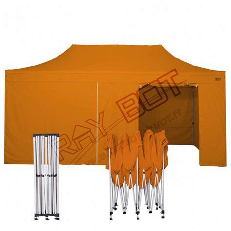 gazebo pieghevole prezzi gazebo pieghevole 3x6 arancione bot 4 teli laterali