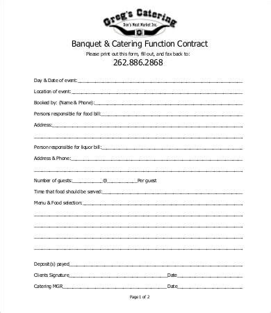sample catering contract templates docs pages word  premium templates