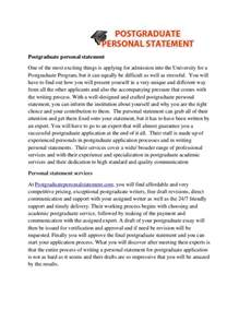 Masters Degree Essay Exles by Exles Of Personal Statements For Masters