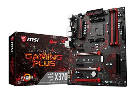 Ready Msi X370 Gaming Pro msi gaming amd ryzen x370 ddr4 vr ready hdmi usb 3 sli cfx atx motherboard x370 gaming plus