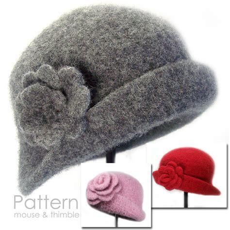 pattern for felt cloche hat felted cloche brooch newborn to adult sizes crochet