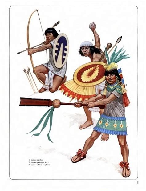 aztec men nobles hairstyles aztec archer peasant levy allied officer these are