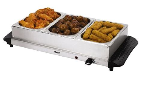 Oster 174 Small Triple Warming Tray Buffet Server Ckstbstw02 Oster Ckstbstw00 Buffet Server Stainless Steel