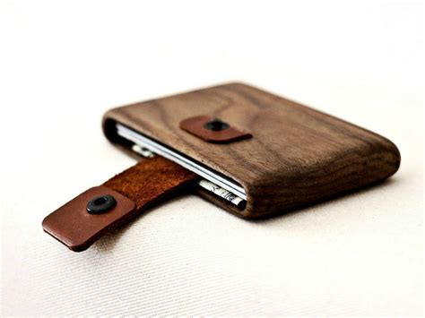pull out leather wood wallet with leather pull out best slim wallet