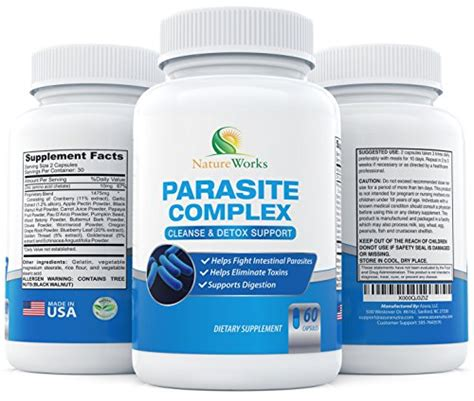 Potent Detox by Potent Parasite Cleanse For Humans 10 Day Worm Pinworm
