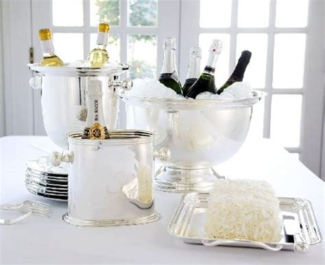 Christmas Decorations Luxury Homes classic silver and white table decor for new year s eve party