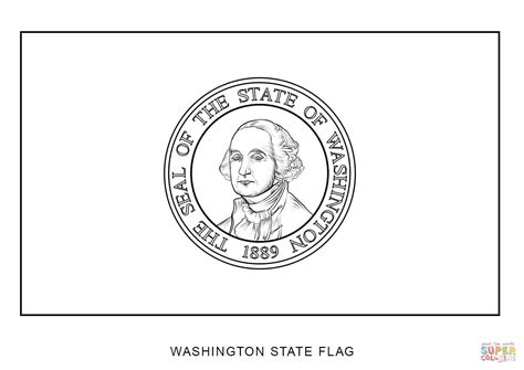 Washington State Flag Coloring Page washington state flag coloring page free printable