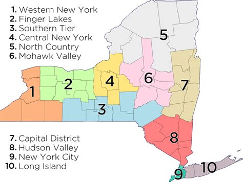 map of ny with cities list of towns in new york