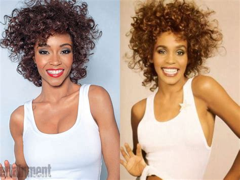 whitney houston biopic how yaya dacosta became the singer first look at antm s yaya dacosta as whitney houston in