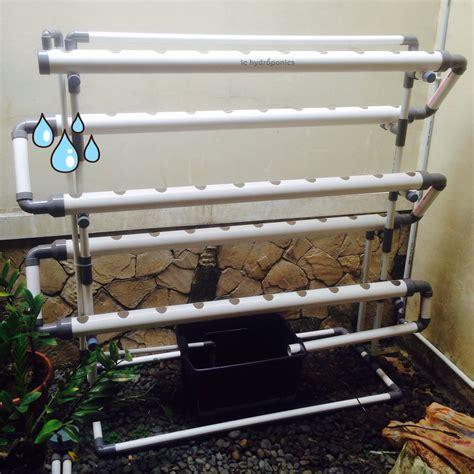 Pipa Nft jual kit hidroponik nft dft pipa pvc 50 lubang komplit ic hydroponics