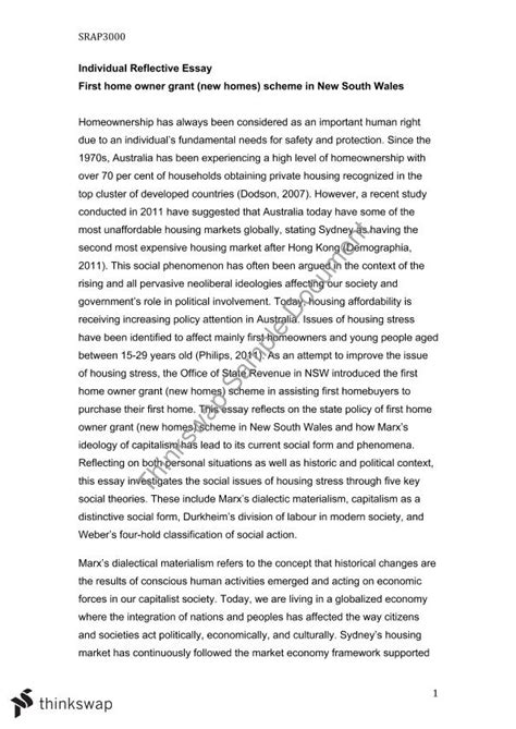 Individual Reflective Essay by Individual Reflective Essay Srap3000 Policy And Social Theory Thinkswap