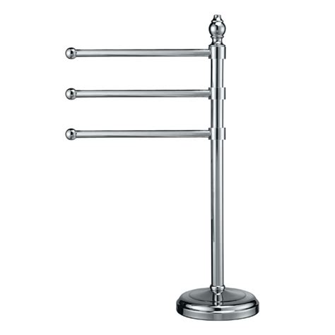 gatco 1444 chrome three arm countertop towel holder