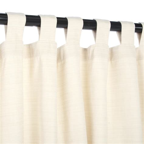 Curtains With Tabs Dupione Pearl Sunbrella Outdoor Curtain With Tabs Hatteras Hammocks Sku Curpls Curtains