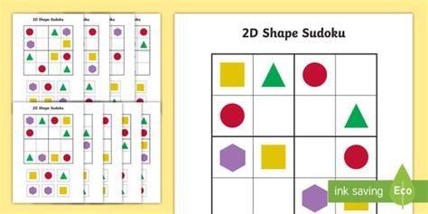 printable sudoku for ks2 2d shape sudoku shapes 2d shapes number games maths