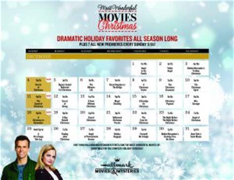 printable schedule of hallmark christmas movies hallmark channel christmas movie calendar premier