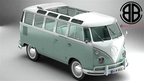 volkswagen type 2 volkswagen type 2 samba 1963 3d model buy volkswagen