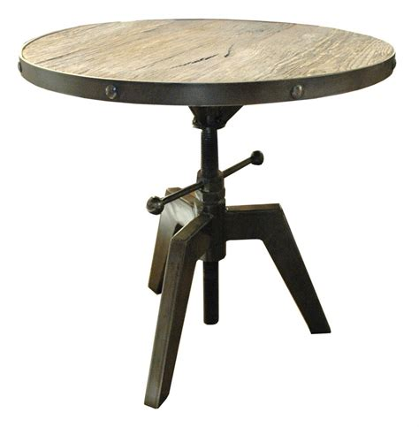 side accent tables sumner round industrial adjustable swivel accent side