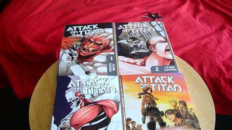 attack on titan volume 8 attack on titan vol 1 4 unboxing