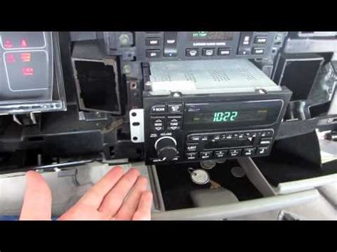 how to remove dash and install oem radio in a 1995 buick