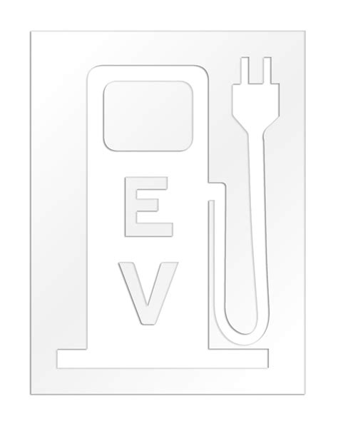 electric vehicles symbol rae charging station electric vehicle stencil plug