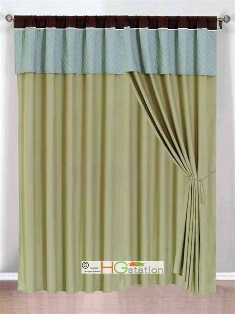 brown trellis curtains 4 pc clover trellis floral curtain set sage blue brown