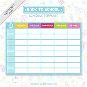School Schedule Template by Simple School Schedule Template Vector Free