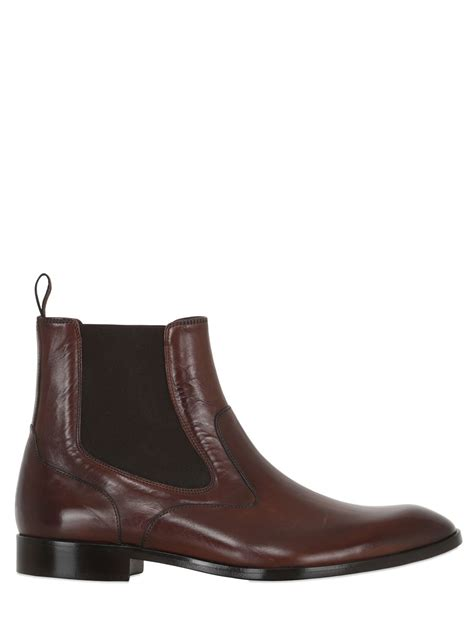 rolando sturlini leather chelsea boots in brown for lyst