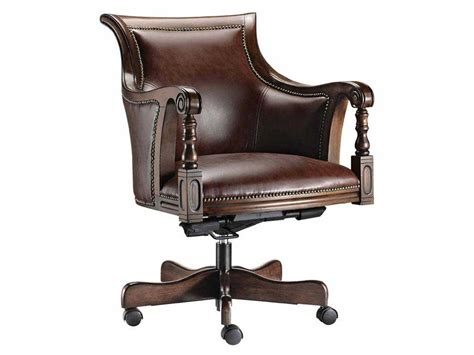 wood and leather swivel desk chair wood desk chair irepairhome com