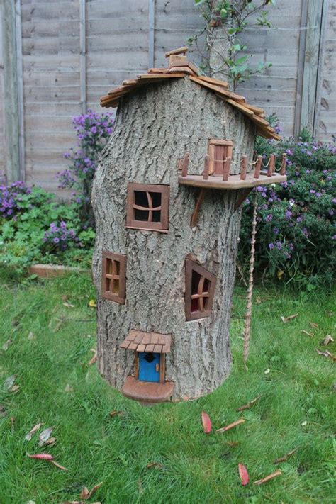 fairy homes enchanted wooden fairy house by olliewoodswood on etsy