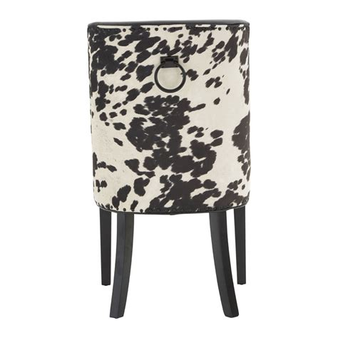 Black And White Cowhide Chair - joe black and white cowhide rodeo dining chair