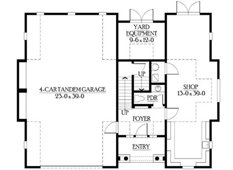 Garage Floor Plans With Living Space by Cottage Like Garage With Living Space Above 23066jd