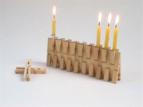 menorah craft projects upcycle repurpose ideas for clothespins menorah