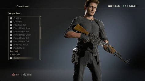 skins all 4 uncharted 4 a thief s end all weapon skins camos