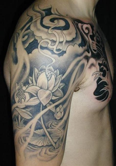 chest and half sleeve tattoos 50 mind blowing black and white tattoos