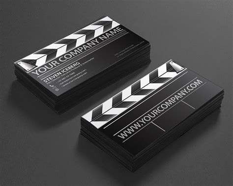 Clapperboard Business Card Template by 100 Must See Creative Unique Business Card Designs