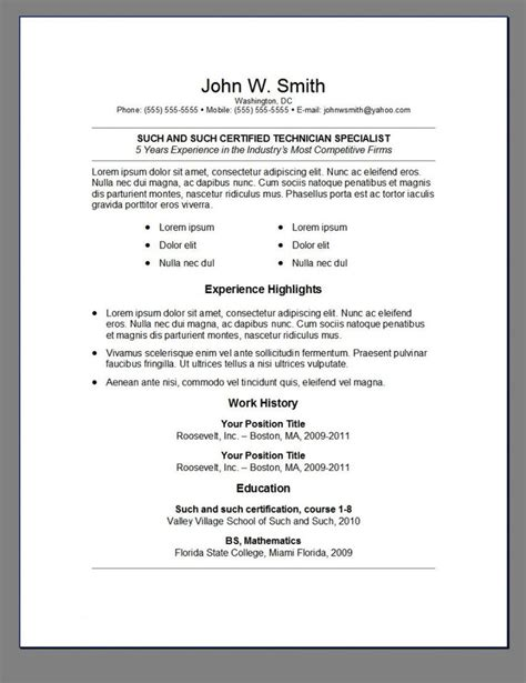 Resume Templates Word Reddit 64 Best Images About Resume On High School