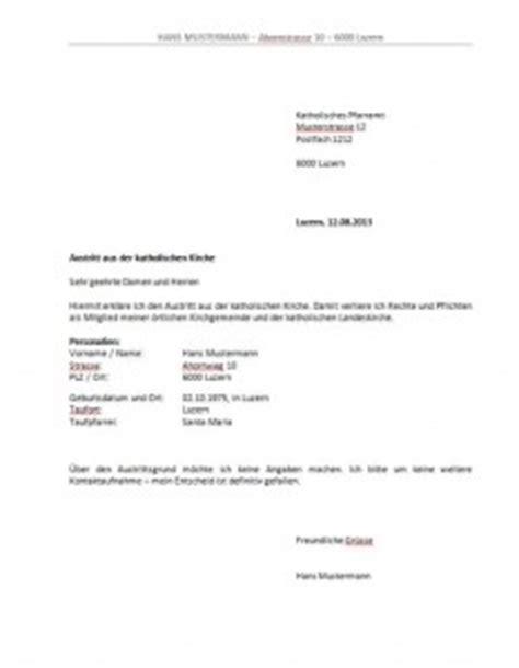 Wohnung Anfrage Brief Kirchenaustritt Schweiz Vorlage Muster Und Vorlagen Kostenlos