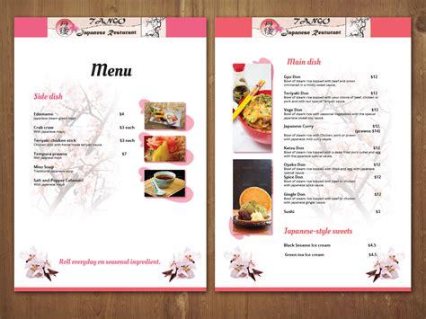 menu design for japanese restaurant menu design for albert hui by mnm design 3099140