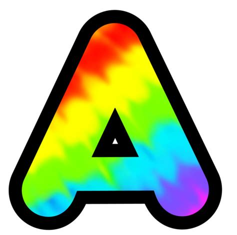 color with letter a display letters and numbers multi colour tie dye