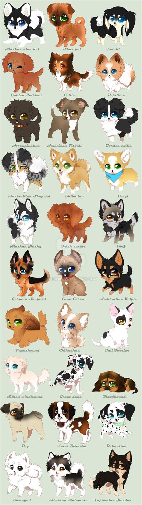 chibi puppy chibi breeds by yechii on deviantart