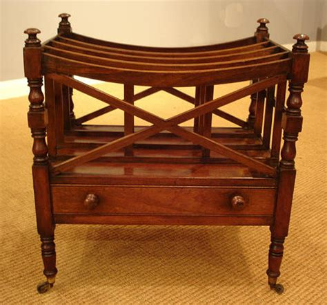 Canterbury Furniture by Regency Mahogany Canterbury Antique Magazine Rack Misc Antique Items Antique Collectibles