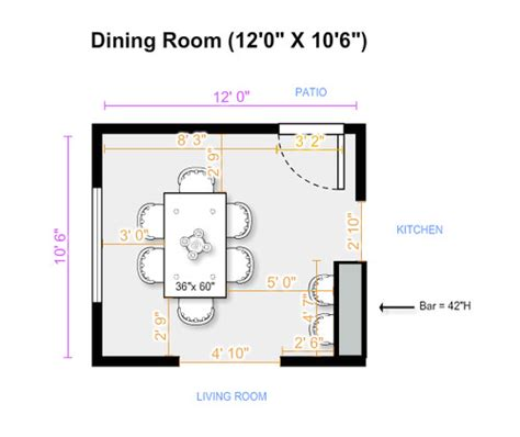 how much is a table what size dining table