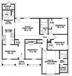 House Plans 4 Bedrooms One Floor 654062 One Story 4 Bedroom 2 Bath Traditional Style